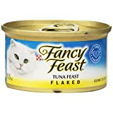 Fancy Feast Wet Cat Food, Flaked, Tuna Feast, 3-Ounce Can, Pack of 24