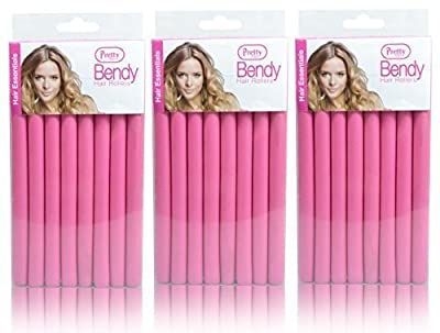 24 Pretty Bendy Hair Rollers (3 x Packs of 8) - Create Curls & Waves Without the Need for Clips or Grips!