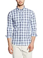 Uominitaliani Camisa Hombre 8609 (Blanco / Azul)