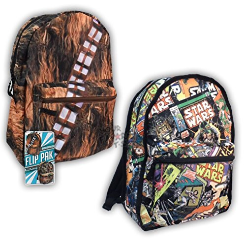 Star Wars Comics & Chewbacca Kids Reversible School Backpack
