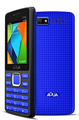 Aqua Shine - 2100 mAh Battery - Dual SIM Basic Mobile Phone - Blue
