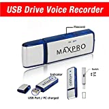 Maxpro USB Digital Voice Recorder Flash Drive Memory 8gb