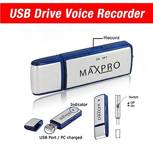 Maxpro USB Digital Voice Recorder Flash Drive Memory 8gb