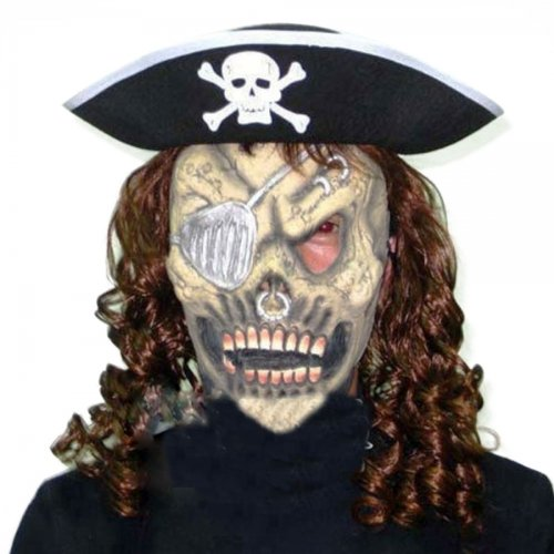 Pirate Hat Hair Skeleton Mask Set Halloween Masquerade Ornament