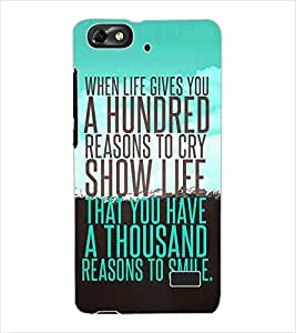 ColourCraft Quote Design Back Case Cover for HUAWEI HONOR 4C