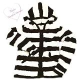 (ベアフット ドリームス)Barefoot Dreams R415 Bamboo Chic Striped Zip Hoodie for Rinka 梨花ライン ストライプ レディース パーカー Barefoot-R415-espresso-S [並行輸入品]
