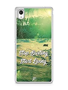YuBingo Stop Existing. Start Living Designer Mobile Case Back Cover for Sony Xperia M4