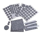 NUOLUX 132pcs Filz Pads für Möbel Floor Protector