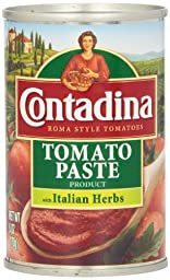 Contadina Tomato Paste with Italian Herbs, 6-Ounce (Pack of 8)