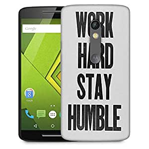 Snoogg Work Hard Stay Humble Designer Protective Phone Back Case Cover For Moto G 3rd Generation