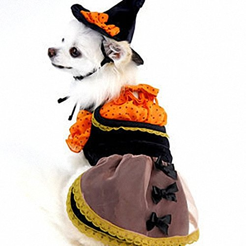 [OMEM Halloween Dog Costumes Witch Dress Clothes for Pets (XS)] (Ronald Mcdonald Costume)