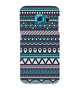 Tribal India Pattern 3D Hard Polycarbonate Designer Back Case Cover for Samsung Galaxy S6 Edge :: Samsung Galaxy Edge G925