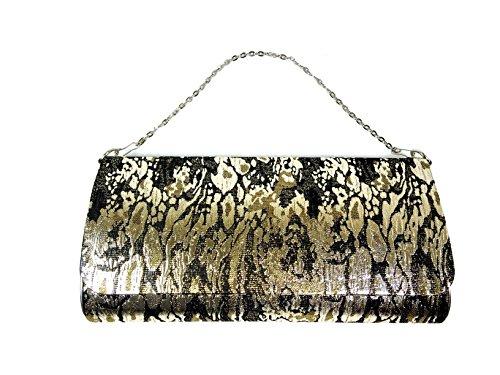 Handbag by WiseGloves Gold Marble handbag Purse Evening Dress Clutch Bag