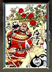 Alice in Wonderland Queen of Hearts Roses Stainless Steel ID or Cigarettes Case (King Size or 100mm)