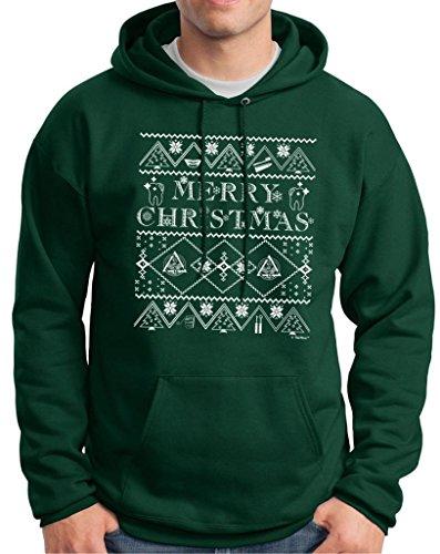 Ugly Christmas Sweater For Dental Hygenists Premium Hoodie Sweatshirt Medium Deep Forest