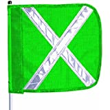 Flagstaff FS6 Safety Flag with Reflective X, Threaded Hex Base