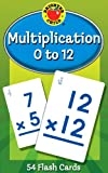 Multiplication 0 to 12 Learning Cards (Brighter Child Flash Cards)
