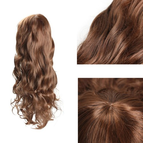 ACE Sweet Girl Vogue Stylish Fluffy Light Brown Curly Wavy Long Hair Full Wig
