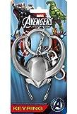 Marvel Thor Loki Helmet Pewter Keychain