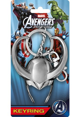 Avengers Loki Helmet Pewter Portachiavi