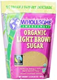 Wholesome Sweeteners Fair Trade Organic Light Brown Sugar, 24-Ounce Pouches (Pack of 6)