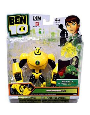 Picture of Bandai Ben 10 Alien 4 Inch Action Figure Armodrillo Includes Minifigure For Revolution Ultimatrix (B0059X433S) (Ben 10 Action Figures)