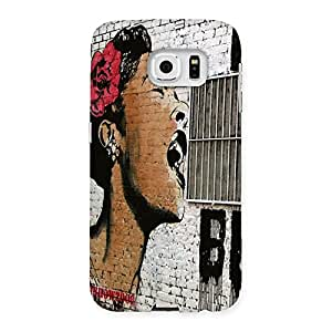 Special Girl Singing Wall Back Case Cover for Samsung Galaxy S6