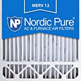 nordic pure 20x20x5l1m12 2 lennox x0585 replacement merv 12 pleated furnace air filter box of 2