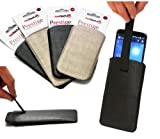 Navitech Black Pull Tab / Cord Pouch Cover Case For The HTC One Mini / HTC Desire 500 / HTC Desire 300 / HTC 8X / HTC 8S