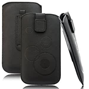 Slim Case Schwarz für LG Nexus 5 Tasche Ledertasche Handytasche Leder Kunstleder Schutz Hülle Schutzhülle Gürteltasche Schlaufe Gürtelschlaufe Seitentasche Etui Holster