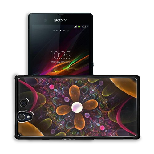 Fractal Patterns Shape Line Colors Sony Xperia Z 5.0 C6603 C6602 Snap Cover Premium Aluminium Case Customized Made To Order Support Ready 5 4/8 Inch (140Mm) X 2 7/8 Inch (73Mm) X 7/16 Inch (11Mm) Luxlady Sony Xperia Z Cover Professional Xperia_Z Cases Tou