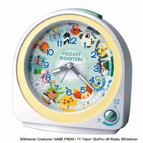 SEIKO CLOCK(セイコークロック) ポケットモンスター目覚まし時計(白) CQ417W