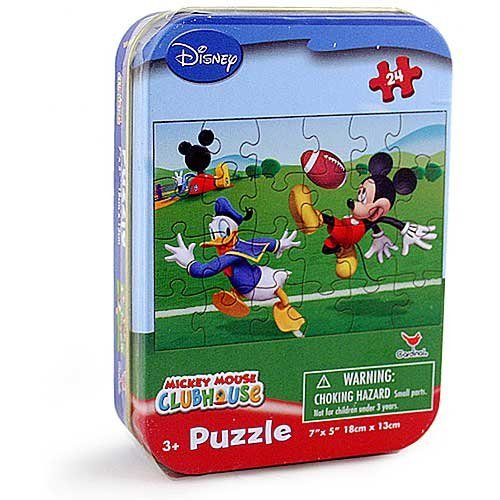 Disney Mickey Mouse Club House 24 Piece Jigsaw Puzzle In Collectible Tin - Designs Vary