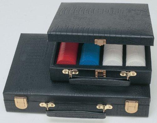 200 Poker Chips in Black Textured Vinyl Carrying Case