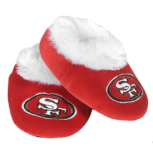 Nfl San Francisco 49Ers Football Baby Bootie Slippers, 3-6 Months