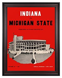 1960 Indiana Hoosiers vs Michigan State Spartans 36x48 Framed Canvas Historic... by Mounted Memories