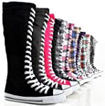 Women's Tall Canvas Lace Up Knee High...