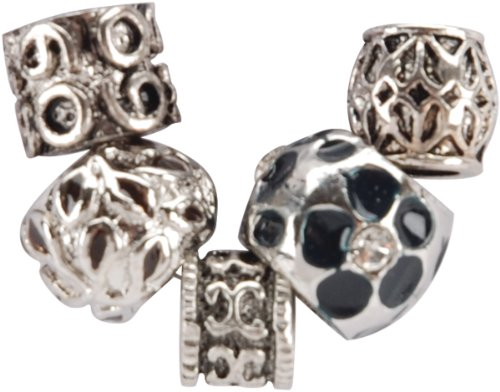 Jesse James Uptown Bead Collection, 5/Pkg: Metal Style #2