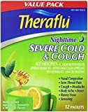 TheraFlu Night Time Severe Cold and Cough, Honey Lemon, 12 Count