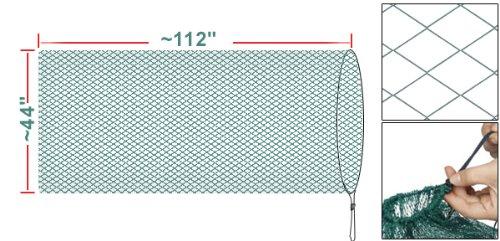 Como Long Drawstring Minnow Fishing Bag Crab Fish Keep Net