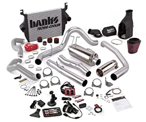 Banks Power 46642 Big Hoss Bundle; Performance System; Incl. Six-Gun Dsl Tuner/Banks iQ/Banks Ram-Air Intake/High-Ram Intake Manif/Techni-Cooler Intercooler/Monster Exhaust; Single;
