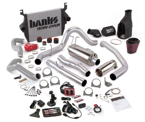 Banks Power 46636 Big Hoss Bundle; Performance System; Incl. Six-Gun Dsl Tuner/Banks iQ/Banks Ram-Air Intake/High-Ram Intake Manif/Techni-Cooler Intercooler/Monster Exhaust; Single;