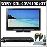 Sony Bravia V-Series KDL-40V4100 40-inch 1080P LCD HDTV + Sony DVD Player w/ Accessory Kit