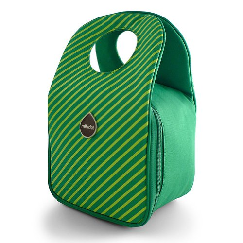 Milkdot Stöh Lunch Tote - Green Apple Stripes