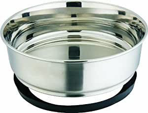 Indipets Stainless Steel Extra Heavy Duty Pet Bowl with Removable Anti Skid Rubber Base, 3-Quart