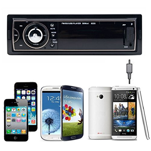 Towallmark(Tm)New Car Audio Stereo In Dash Fm With Mp3 Player Usb Sd Input Aux Receiver
