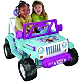 Fisher-Price Girls' Power Wheels Disney Frozen Elsa and Anna Jeep Wrangler 12V Ride-On