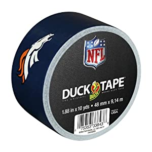 Duck Brand 240494 Denver Broncos NFL Team Logo Duct Tape, 1.88-Inch by 10 Yards, Single Roll
