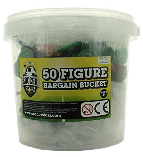 SoccerStarz Premium Football Figure Bargain Bucket (50-Piece) by SoccerStarz