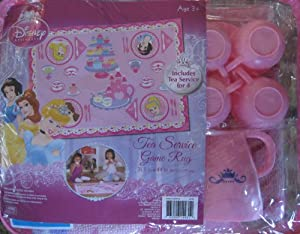 Amazon Com Disney Princess Tea Party Game Rug Includes